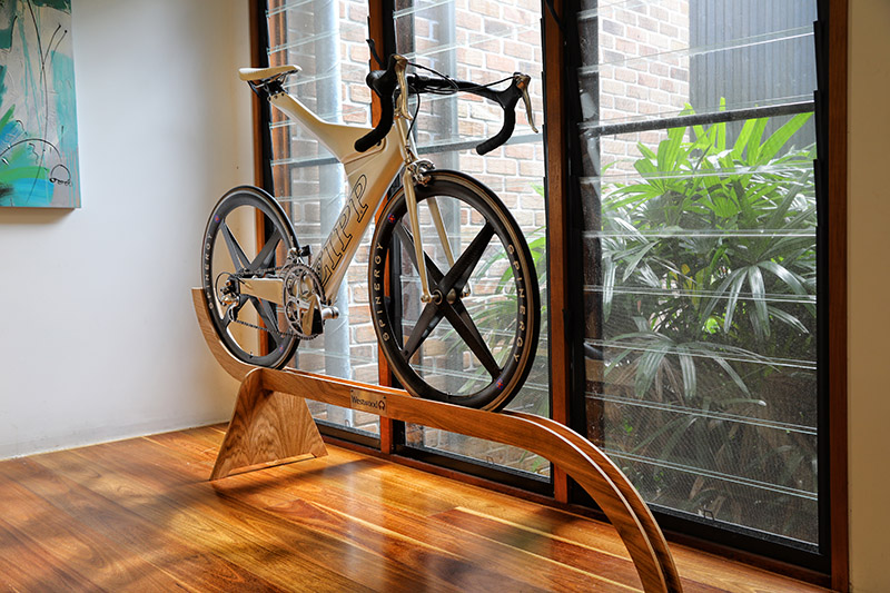 Westwood Designer Bike Stand with a Sports Bicycle on Top
